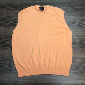 Jos A Bank Signature Orange Sweater Vest XL